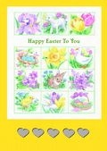 Easter Card-Spring Collage